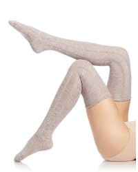 Free People - Natural Pointelle Over-the-knee Socks - Lyst