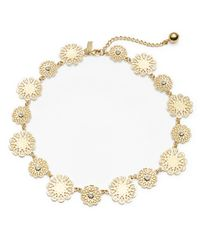 kate spade new york | Metallic Strike Gold Collar Necklace | Lyst