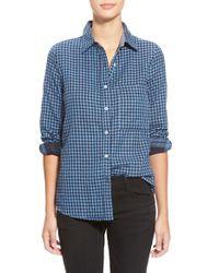 The Hanger | Blue Oversize Check Shirt | Lyst