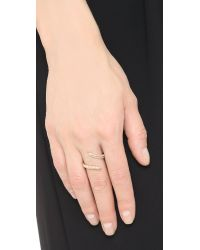 Joanna Laura Constantine | Metallic Horn Ring - Gold/clear | Lyst