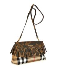 Burberry Prorsum - Green Camouflage Fringed Clutch - Lyst