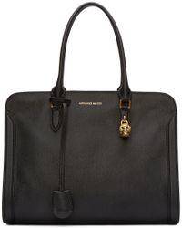 Alexander McQueen - Black Leather Skull Padlock Bag - Lyst