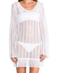 Pilyq | Giovanna Fringe Tunic in White | Lyst