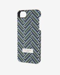 Ted Baker - Blue Herringbone Printed Iphone 5/5s Case for Men - Lyst