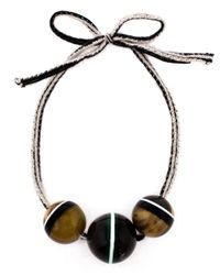 Marni | Brown Horn Sphere Necklace | Lyst