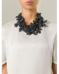 Night Market - Blue 'Deep Flower' Bib Necklace - Lyst