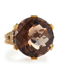 Stephen Dweck - Brown Round Smoky Quartz Prong Ring - Lyst
