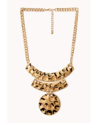Forever 21 | Metallic Hammered Statement Necklace | Lyst