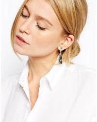 ASOS | Metallic Leaf Swing Earrings | Lyst