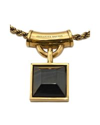 Alexander McQueen - Metallic Square Enamel Necklace - Lyst