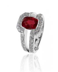 De Grace | Metallic Ruby Saturne Ring | Lyst