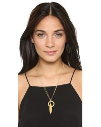 Madewell | Metallic Sara Double Twist Necklace - Light Worn Gold | Lyst