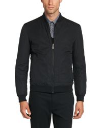 HUGO Black Reversible Jacket In Water-repellent Fabric: 'bevery1' for men