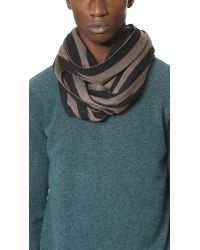 AMI | Black Striped Scarf for Men | Lyst