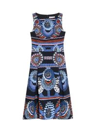 Peter Pilotto - Blue Kia Printed Stretch-jersey Dress - Lyst