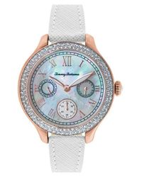 Tommy Bahama - Pink 'waikiki Dream' Crystal Bezel Multifunction Watch - Lyst