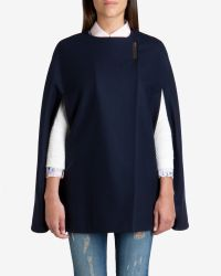 Ted Baker - Blue Minimalist Metal Clasp Cape - Lyst
