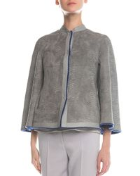 Giorgio Armani - Multicolor Reversible Shearling Fur & Snake-Stamped Jacket - Lyst