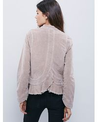 Free People | Natural Womens Shrunken Uncut Cord Jacket | Lyst