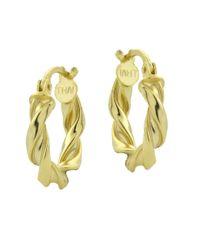 Lord & Taylor | Metallic 18kt Gold Swirled Hoop Earrings | Lyst