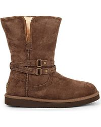 UGG - Brown Palisade Suede Wool-lined Ankle Boots - Lyst