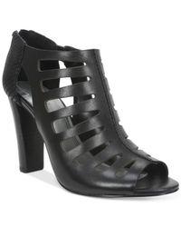 Tahari | Black Lindy Cage Peep-toe Sandals | Lyst