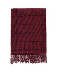 Forever 21 | Red Fringed Grid-patterned Scarf | Lyst