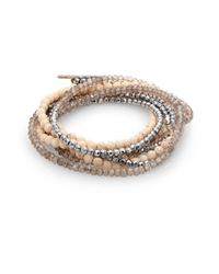 Brunello Cucinelli - Metallic Multistone Wrap Bracelet - Lyst