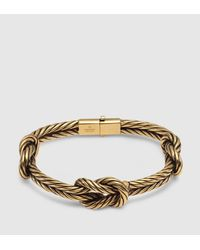 Gucci | Metallic Gold Finished Sterling Silver Knot Bracelet | Lyst