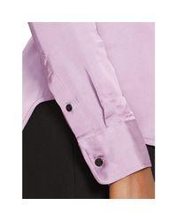 Ralph Lauren | Purple Charmeuse Button-down Shirt | Lyst