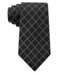DKNY - Black Graphic Grid Slim Tie for Men - Lyst