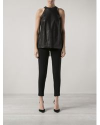 Adam Lippes - Black Pleat Back Shirt - Lyst