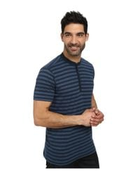 Agave - Blue Trestles Short Sleeve Henley for Men - Lyst