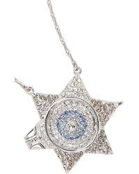 Eddie Borgo - Metallic Silvertone Crystal Necklace - Lyst