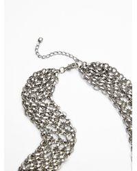 Free People | Metallic Womens Drippy Mesh Collar | Lyst
