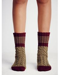 Free People | Green Womens Scandinavia Crew Sock | Lyst
