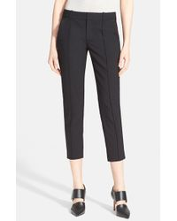 Vince | Black Pintuck Seam Side Tab Crop Pants | Lyst