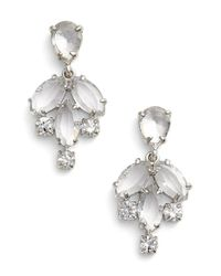 kate spade new york | Metallic 'catching Light' Crystal Earrings - Clear/ Gold | Lyst
