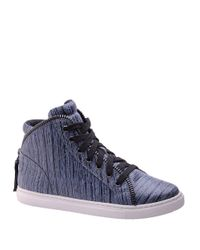 Splendid - Gray Sebastian Leather High-top Sneakers - Lyst