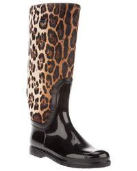 Dolce & Gabbana - Multicolor Leopard Print Boot - Lyst