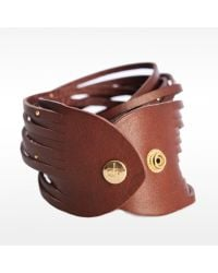 Linea Pelle | Brown Double Wrap Bracelet | Lyst