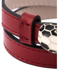 BVLGARI - Red 'serpenti' Wrap Bracelet - Lyst
