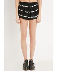 Forever 21 - Black Tie-dye Striped Shorts - Lyst