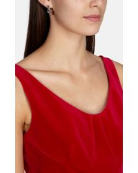 Karen Millen - Metallic Crystal Dot Drop Earring - Lyst