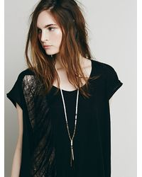 Free People - White Womens Venture Pendant - Lyst
