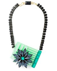 Silvia Rossi | Green 'polynesian Wave' Necklace | Lyst