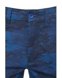BOSS Green | Blue 'leeman Print-w' | Slim Fit, Stretch Cotton Blend Pants for Men | Lyst