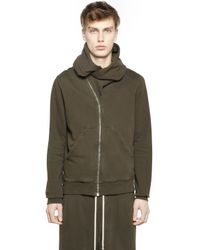 Rick Owens | Brown Drkshdw Hooded Zip-up Cotton Sweatshirt | Lyst