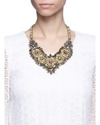 Valentino | Metallic Crystal Flower Necklace | Lyst