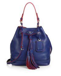 Prada - Blue Large Bucket Bag - Lyst